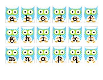 Word Work Letter Cards--Spelling Station