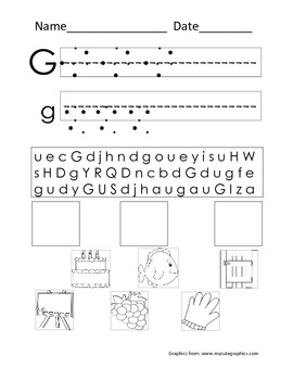 Word Work Letter Packet!