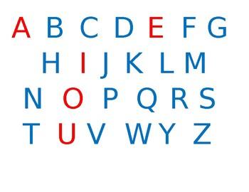 Word Work Letter Tiles
