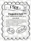 Word Work Letter Word Hunt : I SPY (Kindergarten - aligned