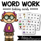Word Work Short Vowel and Long Vowel Linking Cards