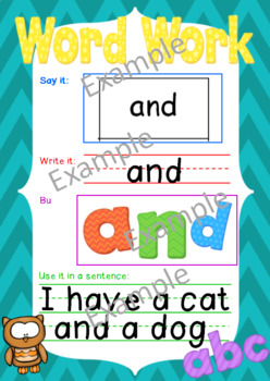 Word Work- Literacy Center Activity