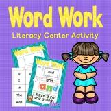 Word Work- Literacy Center Activity
