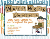 Word Work Literacy Centers
