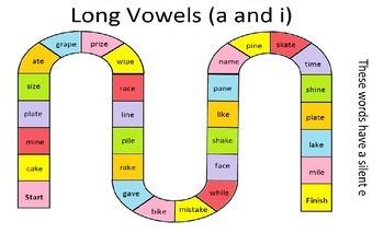Word Work - Long A / Long I (silent e)