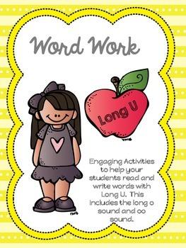 Word Work - Long U Phonics Centers