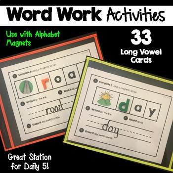 Word Work | Long Vowel Sounds