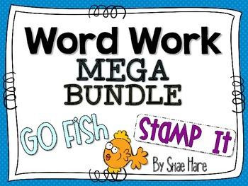{Word Work MEGA BUNDLE} {Stamp It} [Go FISH] Reading Station Center Game