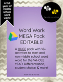 Word Work MEGA Pack for Middle School [Editable!]
