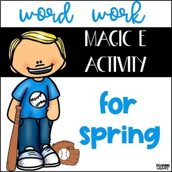 Word Work Magic E Activity for Spring