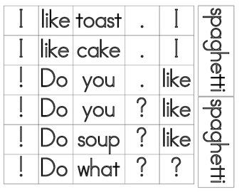 Word Work - Make a Sentence - I like...