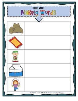 Word Work: Making Words (Short Vowels)