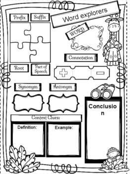 Word Work Map