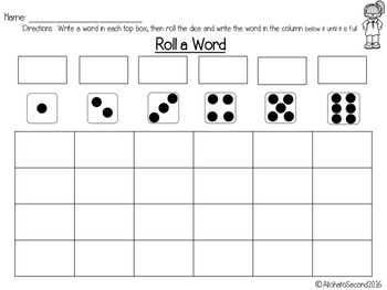 Word Work Materials
