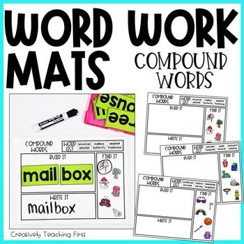 Word Work Mats - Compound Words