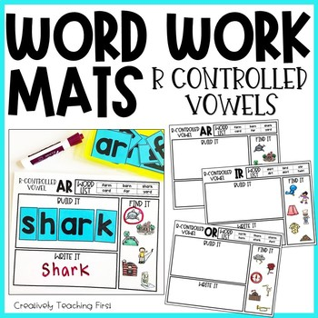 Word Work Mats - R Controlled Vowels