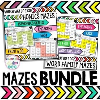 Word Work Mazes Bundle