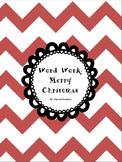 Word Work - Merry Christmas