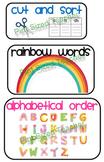 Word Work Mini Posters + 2 worksheets