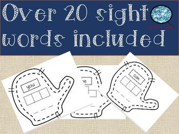 Word Work Mitten Sight Words