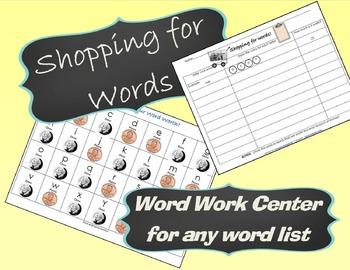 Word Work Money Literacy Center