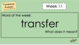 Word Work - Morphemic Analysis - Week 11