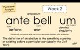 Word Work - Morphemic Analysis - Week 2