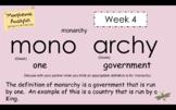 Word Work - Morphemic Analysis - Week 4