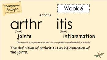 Word Work - Morphemic Analysis - Week 6
