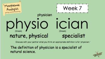Word Work - Morphemic Analysis - Week 7