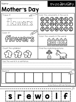 Word Work- Mother's Day