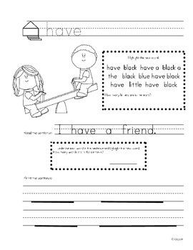 Word Work: My Word Book
