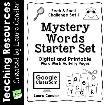 Word Work Activity Worksheets: Mystery Words Set 1