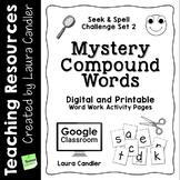 Word Work Activity Worksheets: Mystery Words Set 2 Compound Words