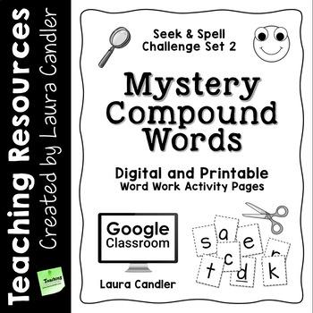 word work activity worksheets mystery words set 2 compound words. Black Bedroom Furniture Sets. Home Design Ideas