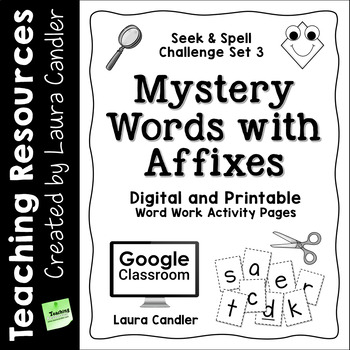 Word Work - Mystery Words Set 3 Prefixes and Suffixes