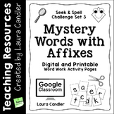Word Work Activity Worksheets: Mystery Words Set 3 Prefixe
