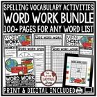 Spelling Activities & Word Work Centers