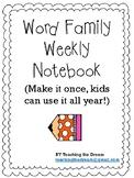 Word Work Notebook reusable weekly