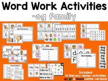 Word Work: -OG Word Family
