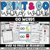 Word Work: oo sounds