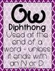Word Work: Diphthongs OU - OW