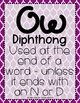Word Work - OU-OW Diphthong Sorting Center {ABC Order, Anc