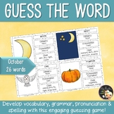 Word Work October Guess the word