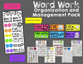 Word Work Organization and Management Pack
