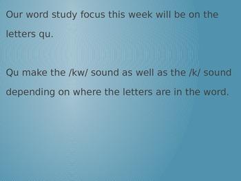 Word Work PPT Qu