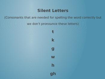 Word Work PPT Silent Consonants