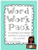 Word Work Pack