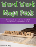 Word Work Mega Pack~Any Spelling List {Differentiated for