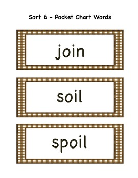 "Word Work Packet based on ""Words Their Way""™ LEVEL C, SORT #6."